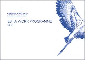 ESMA 2015 Work Programme