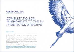 Consultation on amendments to the Prospectus Directive