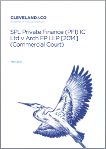 SPL Private Finance (PFI) IC Ltd v Arch FP LLP [2014] (Commercial Court) (Article 3 of our