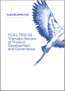 FCA's Thematic Review of Product Development and Governance
