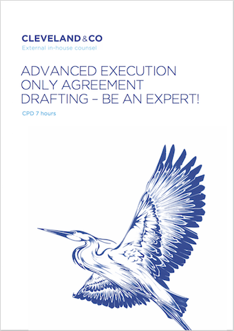ADVANCED EXECUTION ONLY AGREEMENT DRAFTING Cover