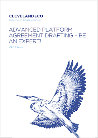 Advanced Platform Agreement Drafting Cover