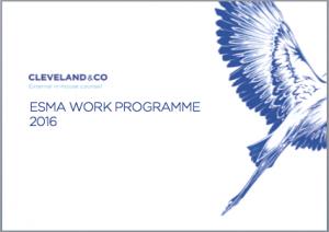 ESMA work programme 2016
