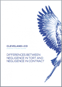 Differences between negligence in tort and negligence in contract