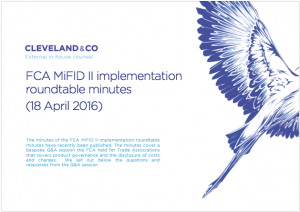 FCA MiFID II implementation roundtable minutes (18 April 2016)