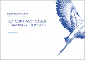 Commercial contracts - key cases of 2015