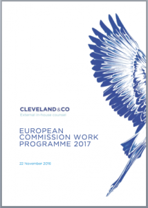 European Commission Work Programme 2017