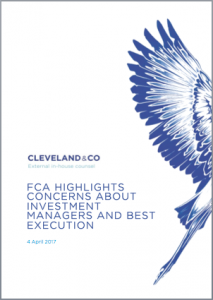 FCA concerns about investment managers and best execution