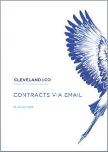 Contracts via email