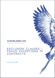 Exclusion Clauses – Fraud exceptions in contracts