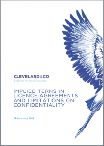 Implied terms in licence agreements and limitations on confidentiality