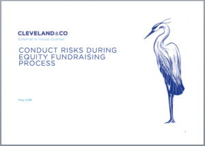 Conduct risks during equity fundraising process