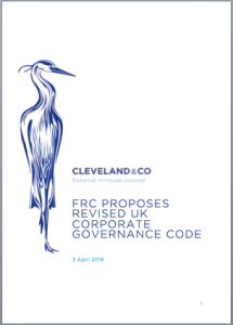 FRC proposed revised UK corporate governance code