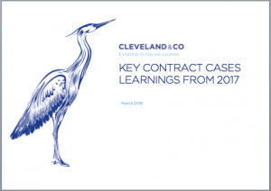 Key contract cases - learnings from 2017