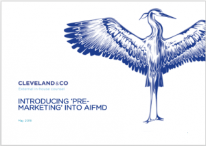 Introducing 'pre-marketing' into AIFMD