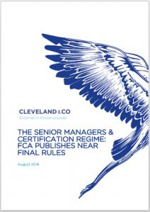 Senior Managers Certification Regime