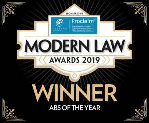 Cleveland & Co win ABS of the year at the Modern Law Awards 2019!