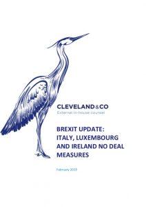 Brexit updates: Italy, Luxembourg & Ireland