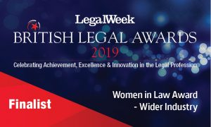 Emma Cleveland announced as a finalist in the British Legal Awards 2019