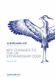 Key changes to The UK Stewardship Code