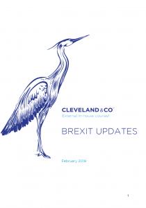 Brexit updates