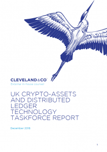 UK crypto-assets and distributed ledger technology taskforce report