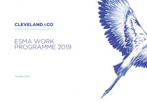 ESMA's 2019 Work Programme