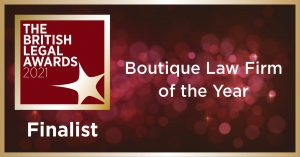 UK: C&Co shortlisted for Boutique Law Firm of the Year 2021