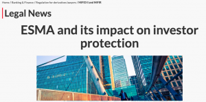 Emma talks about ESMA impact on investor protection in LexisNexis