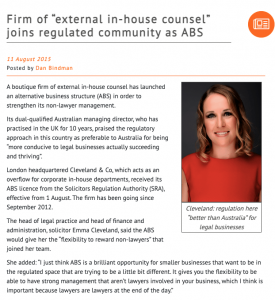 Interview with Legal Futures, 11 August 2015