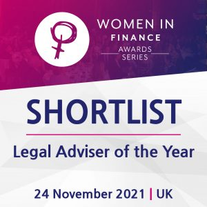 """UK: Emma Cleveland shortlisted in the prestigious """"Legal Adviser of the Year"""" category in the Women in Finance Awards 2021"""